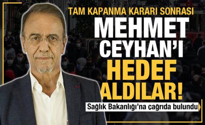 Tam kapanma kararı sonrası Mehmet Ceyhan'ı hedef aldılar! Sağlık Bakanlığı'na çağrı