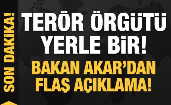 Terör örgütüne tarihi darbe! Bakan Akar'dan son dakika açıklamalar