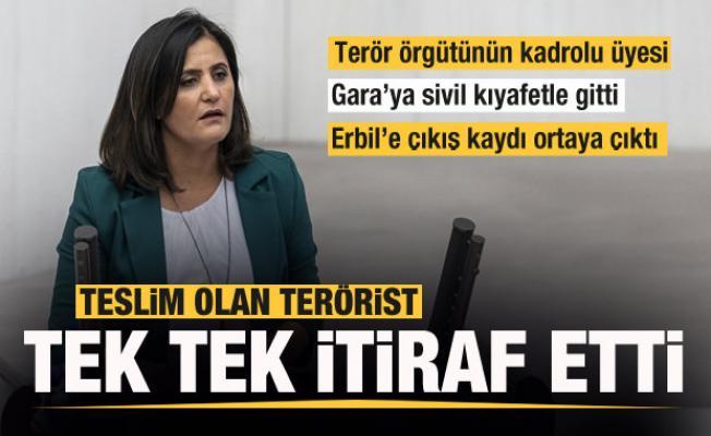 Teslim olan teröristlerden Dirayet Dilan Taşdemir itirafı