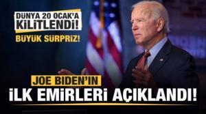 Joe Biden'ın ilk emirleri açıklandı! Büyük sürpriz!