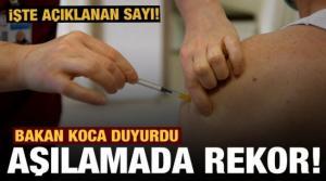 Son dakika: Bakan Koca aşıda müjdeli haberi duyurdu!