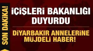 Son dakika haberi... İçişleri Bakanlığı duyurdu: Diyarbakır annelerine müjdeli haber!