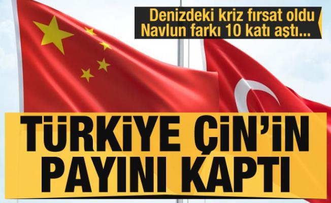 Türkiye denizdeki krizi fırsata çevirdi Çin'in payını kaptı! Navlun farkı 10 katı aştı...