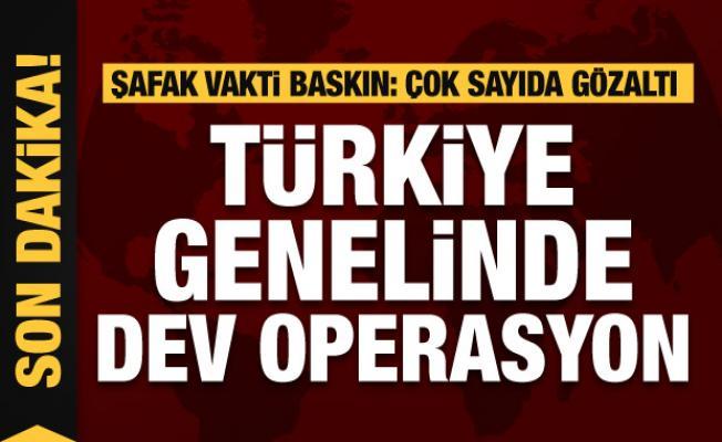 Türkiye genelinde dev uyuşturucu operasyonu