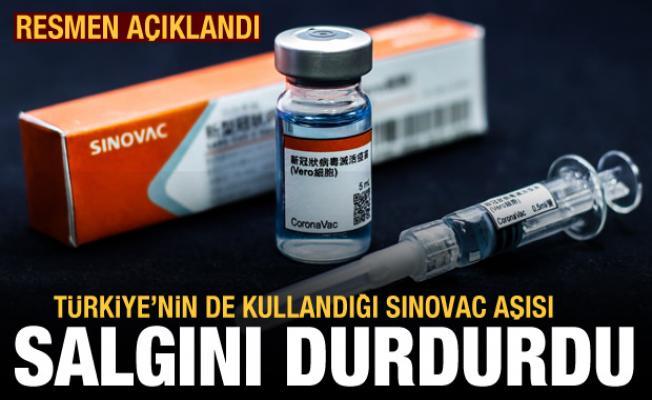 Türkiye'nin de kullandığı Sinovac aşısı salgını durdurdu