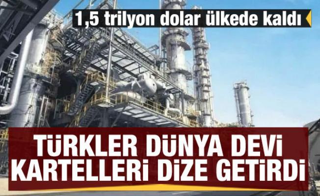 Türkler dünya devi kartelleri dize getirdi! 1,5 trilyon dolar ülkede kaldı