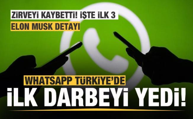 Whatsapp'a Türk kullanıcılardan büyük darbe! İlk 3 değişti! Telegram, BiP...