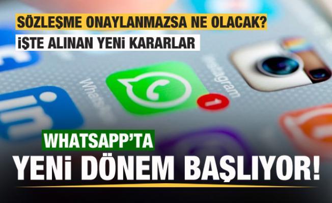 WhatsApp'ta yeni dönem! Sözleşmeyi onaylamayan kullanıcıları neler bekliyor?