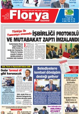 Florya Gazetesi - 29.01.2017 Manşeti