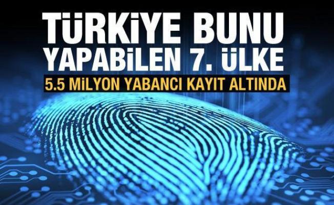 5.5 milyon yabancının parmak izi kayıt altında