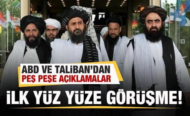ABD Taliban'la görüştü! Peş peşe açıklamalar