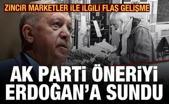 AK Parti 29 sayfalık raporu Erdoğan'a sundu: 'Süpermarketler çevre yoluna'