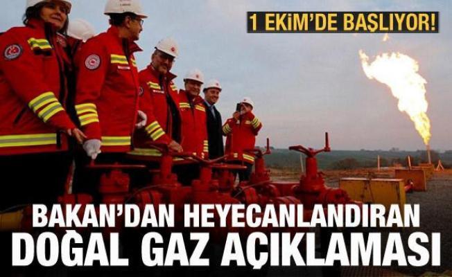 Bakan Dönmez'den doğal gaz keşfi açıklaması: Üçte birini karşılayacak