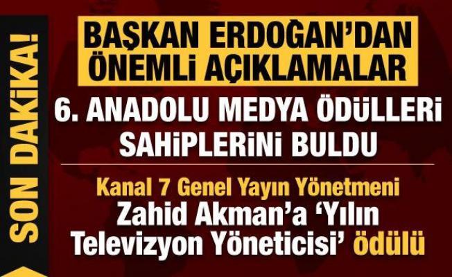 Başkan Erdoğan, '6'ncı Anadolu Medya Ödülleri Töreni'nde konuştu