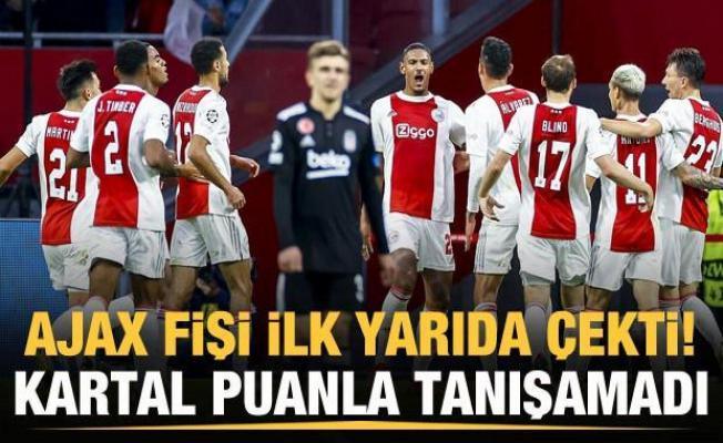 Beşiktaş, Ajax'a direnemedi!