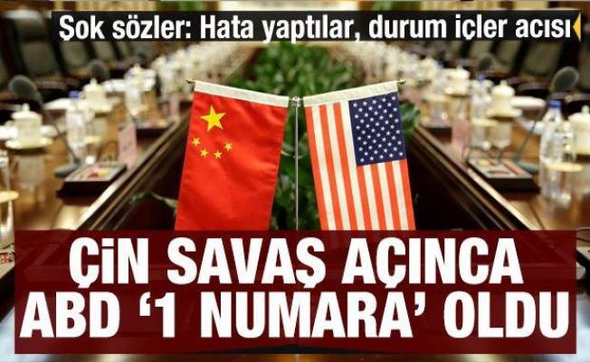 Çin savaş açınca ABD bir numara oldu! Şok sözler: Çin hata yaptı, durumu içler açısı