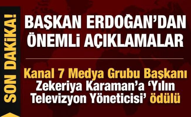Cumhurbaşkanı Erdoğan, '6'ncı Anadolu Medya Ödülleri Töreni'nde konuşuyor