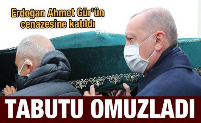 Cumhurbaşkanı Erdoğan Ahmet Gür'ün cenaze namazına katıldı