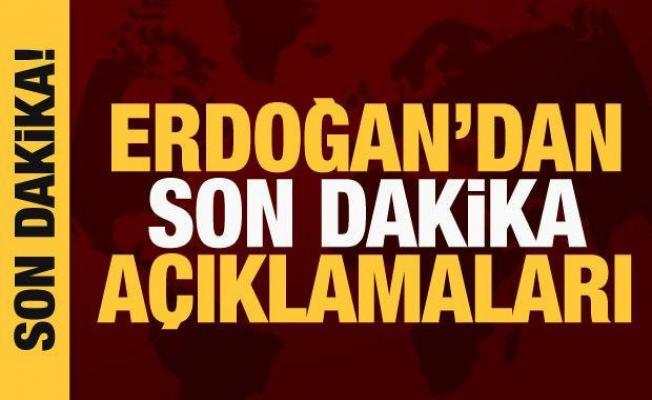 Cumhurbaşkanı Erdoğan Beştepe'de işçileri ağırladı