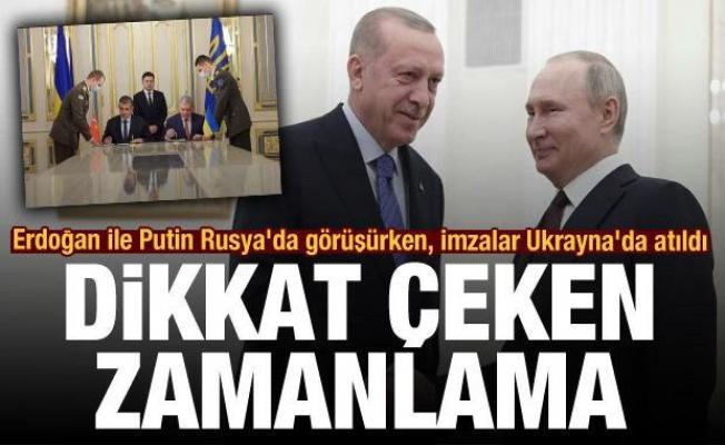Erdoğan ile Putin Rusya'da görüşürken, imzalar Ukrayna'da atıldı