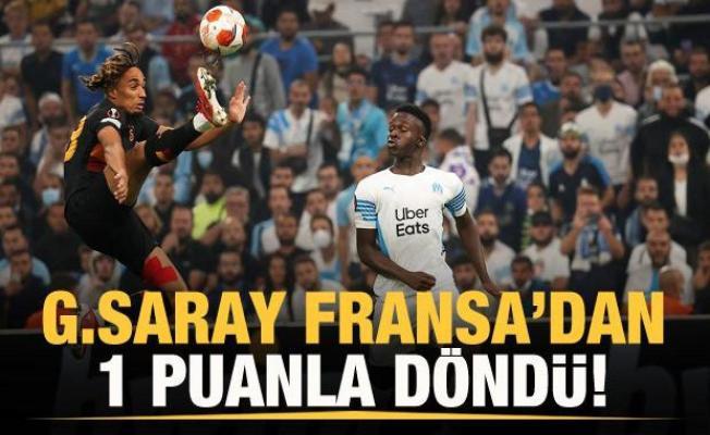 Galatasaray Fransa'dan 1 puanla döndü!