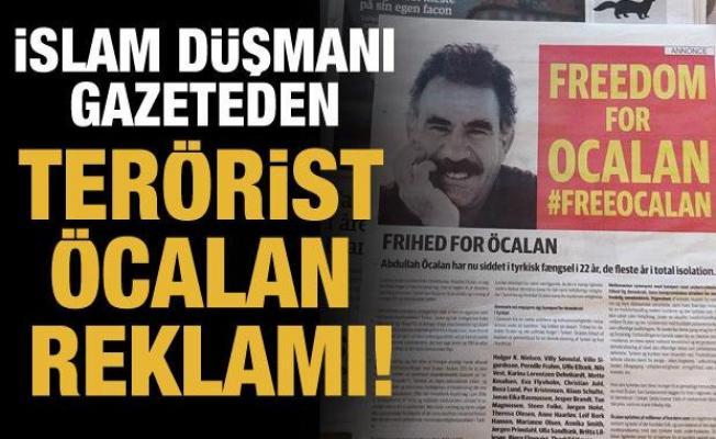 İslam düşmanı gazeteden terörist Öcalan reklamı!