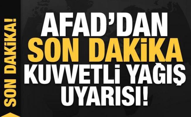 İstanbul için son dakika kuvvetli yağış uyarısı!