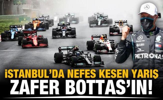 İstanbul'da zafer Valteri Bottas'ın!