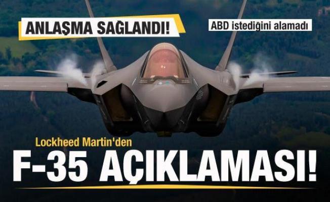 Lockheed Martin'den F-35 açıklaması! Anlaşma sağlandı! ABD istediğini alamadı