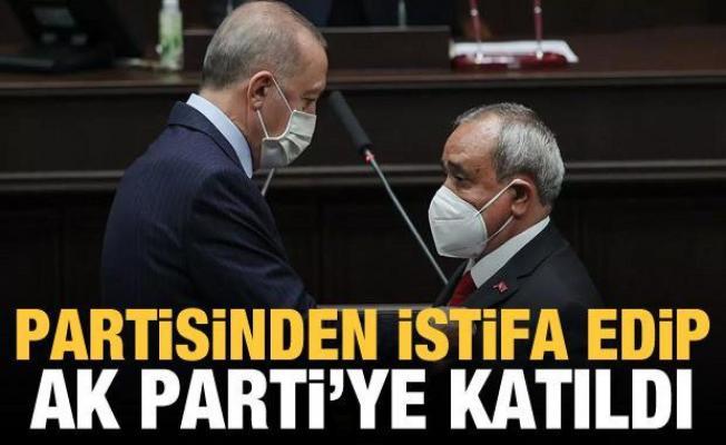 Partisinden istifa edip AK Parti'ye katıldı