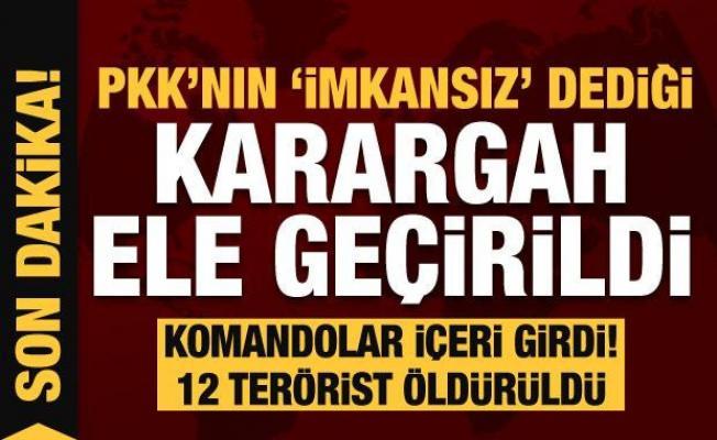 PKK darmaduman! 'imkansız' dedikleri karargah ele geçirildi! Komandolar içeri girdi