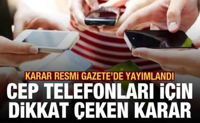 Resmi Gazete'de yayımlandı: Cep telefonları için dikkat çeken KDV kararı