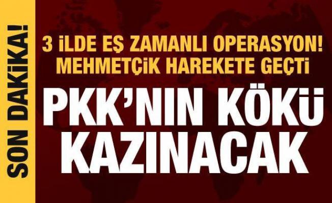 Son dakika haberi: 3 ilde PKK'ya sonbahar-kış operasyonu!