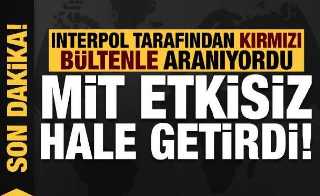 Son dakika: Interpol tarafından kırmızı bültenle aranan PKK'lıyı MİT etkisiz hale getirdi