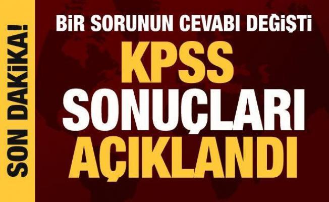 Son dakika: KPSS sonuçları açıklandı