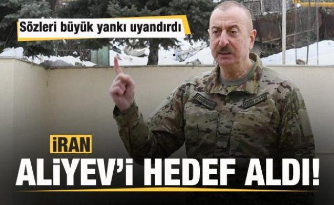 Szöleri büyük yankı uyandırdı! İran Aliyev'i hedef aldı!