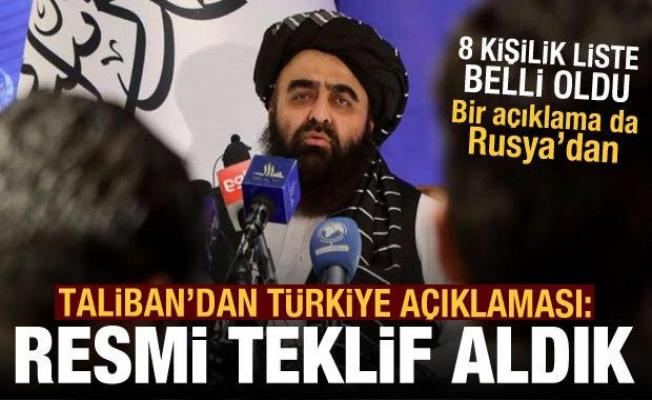 Taliban'dan Türkiye açıklaması: Resmi teklif aldık! Bir açıklama da Rusya'dan