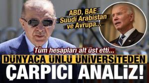 Dünyaca ünlü üniversiteden dikkat çeken analiz! Türkiye hesapları alt üst etti...