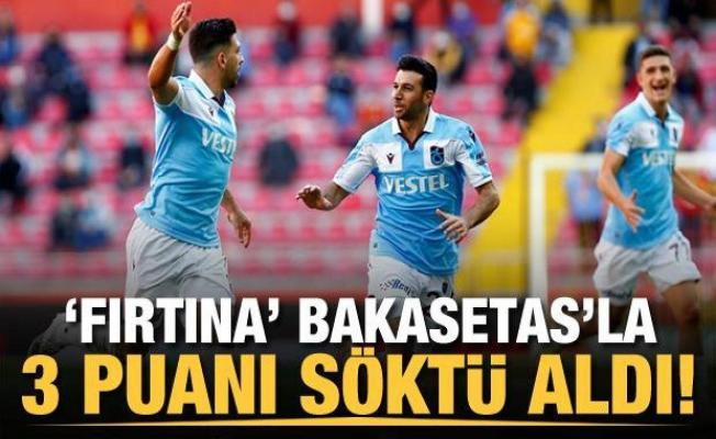 Trabzonspor 3 puanı Baksetas'la aldı