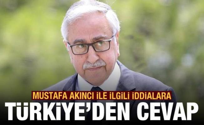 Türkiye'den Mustafa Akıncı ile ilgili iddialara flaş cevap