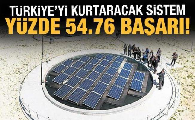 Türkiye'yi kurtaracak sistem: Buharlaşmayı yüzde 54,67 azalttı