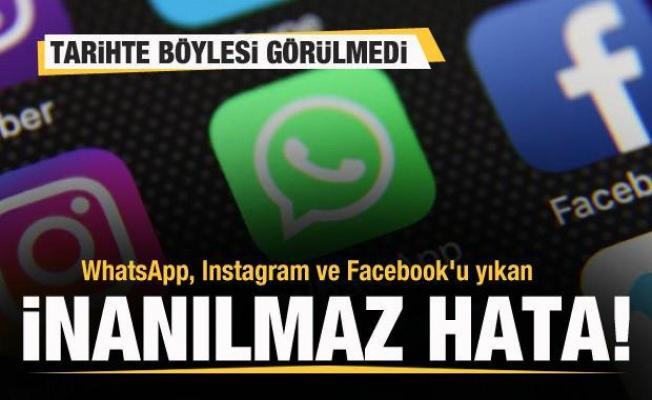 WhatsApp, Instagram ve Facebook'u yıkan inanılmaz hata! Tarihte böylesi görülmedi